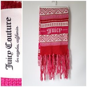 Juicy Couture Knit Fringe Scarf 70in Long NWOT
